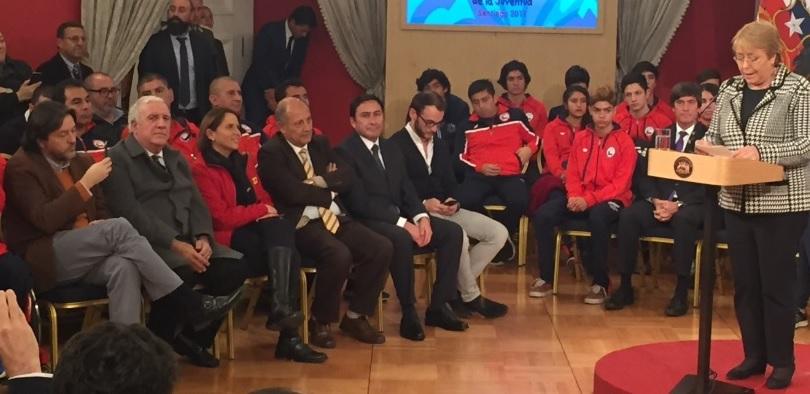 Presidenta Bachelet y Alcaldesa Carolina Leitao