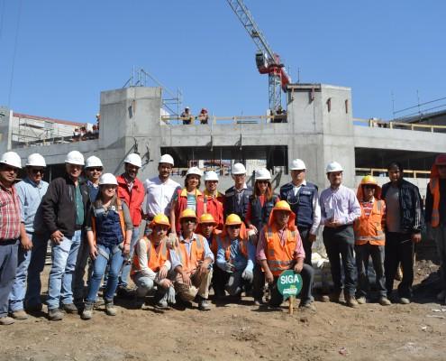 Visita de Alcaldesa Carolina Leitao a obras del Centro Educacional Eduardo de la Barra