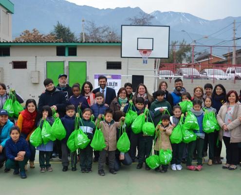 Recreos entretenidos en colegios municipales de Peñalolén